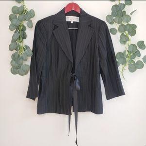 Trina Turk Tie Front Blazer Jacket Women's 12 EUC
